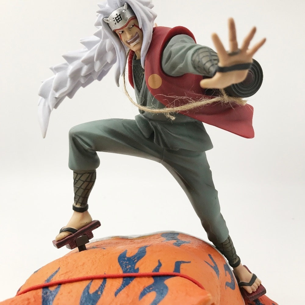 Anime Naruto Shippuden Jiraiya and Gama-Bunta Statue Gama Sennin PVC Action Figure Collectibles Model Toy Christmas Gift
