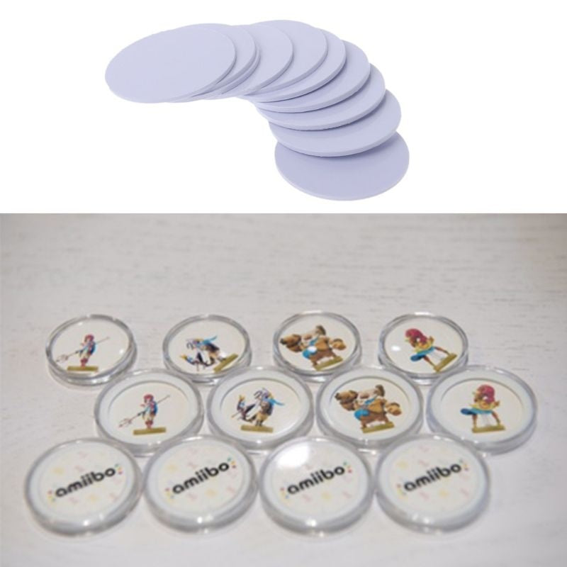 10PCS Ntag215 NFC Tags Sticker Phone Available Adhesive Labels RFID Tag 25mm FEE