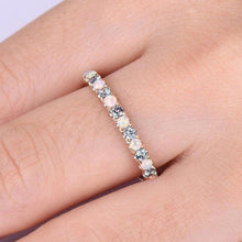 Load image into Gallery viewer, Women Fashion Gold Pop Diamond Natural Opal Ring Cute Party Wedding Engagement Party Jewelry