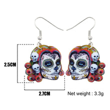 Load image into Gallery viewer, Acrylic Halloween Festival Skeleton Skull Earrings Dangle Drop Musician New Fashion Jewelry For Girls Women
