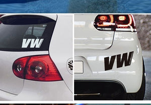 Reflective Personality Wolkswagen Car Stickers Bonnet Hood Body Window Car Styling Golf 7 Removable Car Stickers