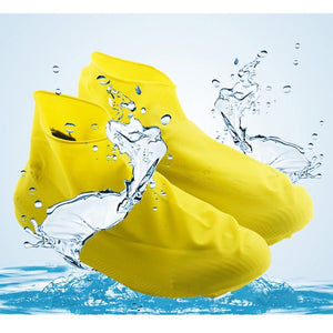 Unisex Waterproof Disposable Elastic Latex Boot Cover Rain Snow Non-slip Shoe Covers