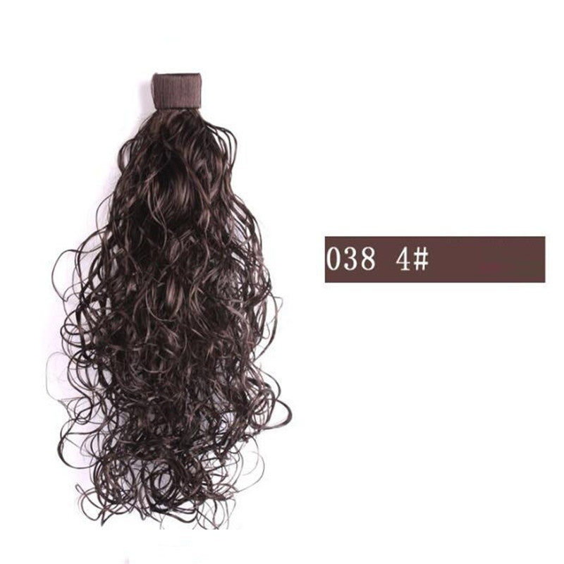 1 Piece Long Ponytail Tress Synthetic In on Pony Tail Hair Extension Natural Curly False Women's Hairpiece