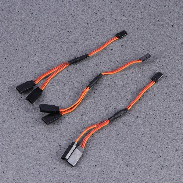 3pcs Servo Cable Durable 15cm 3 Pins Male to Female Premium Extension Lead Cabl Servo Lead Wire for RC Helicopter