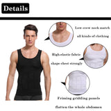 Mens Body Slimming Tummy Shaper Vest Belly Control Abs Compression Shirt Underwear