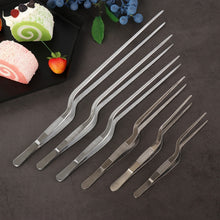 Load image into Gallery viewer, New Plating Chef Kitchen Tool Food Tweezer Stainless Steel  BBQ Clip Barbecue Tongs