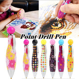 1PC Cute Point Drill Pen Professional Diamond Painting Tool Pen Diamond Embroidery Accessory Diamond Painting Cross Stitch Tool