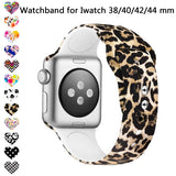 JUNBOR Watch Band Compatible with Iwatch 38mm/42mm/40mm/44mm for Series1,Series 2,Series 3 ,Series 4 Silicone Non-fading Pattern Print Replacement Wristband S/L