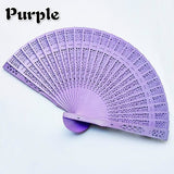 Chinese Wooden Hand fan Wedding Hand Fragrant Party Carved Bamboo Folding Fan Chinese Style Wooden Decorative Fans Dance Party