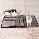 Pet Soft Summer Self Cooling Mats Dog Cat Sleeping Pad Ice Silk Mat Pet Non Sticking Blanket
