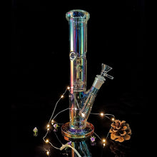 Load image into Gallery viewer, (2 Type) Handmade Luminous Glass Hookah Water Bomg Pipes Joint 14.5mm Bubblers for Smoking Recycler Tobacco Smoke Tool