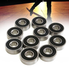 Load image into Gallery viewer, 50PCS 608RS Bearing 8*22*7 mm ABEC-5 Skateboard Scooter 608 2RS Ball Bearing Miniature Skate Roller Ball Bearings Kit