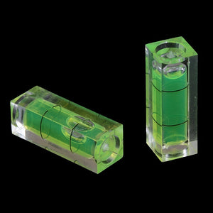 2Pcs rectangular cube spirit level bubble measuring level ruler detector tool