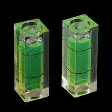 Load image into Gallery viewer, 2Pcs rectangular cube spirit level bubble measuring level ruler detector tool