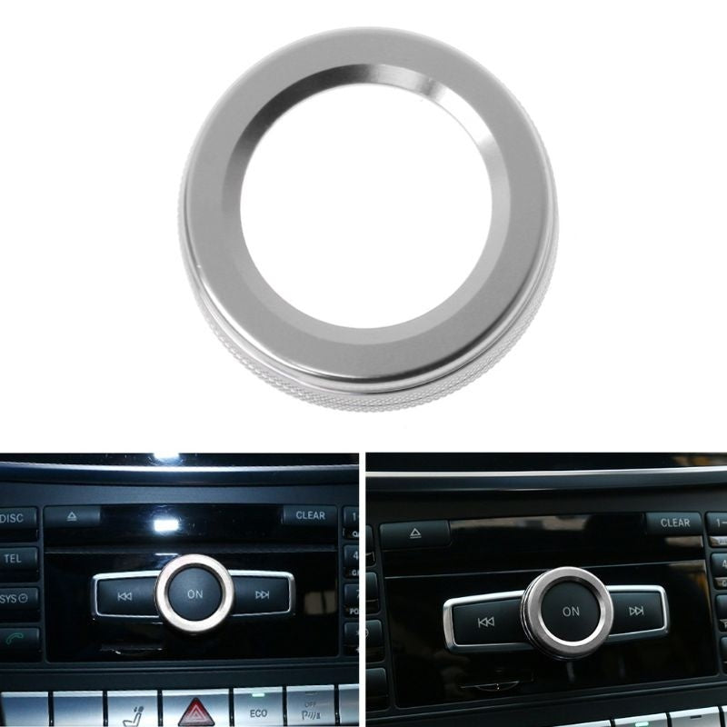 Car Volume Knob Decorative Ring Cover For Mercedes Benz A B E Class GLA CIA GLE ML GL X164 X166 W251 W168 W176 W245 W246 AMG MUM