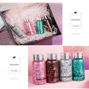 Liquid Glitter Eyeshadow Eyes Sequins Body Shimmer Festival Make Up Cosmetics Nail Crystal Sticker Face Jewels