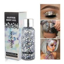 Load image into Gallery viewer, Liquid Glitter Eyeshadow Eyes Sequins Body Shimmer Festival Make Up Cosmetics Nail Crystal Sticker Face Jewels