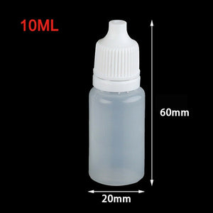 10pcs 10/50/100ml Empty Plastic Squeezable Eye Ear Liquid Dropper Bottles
