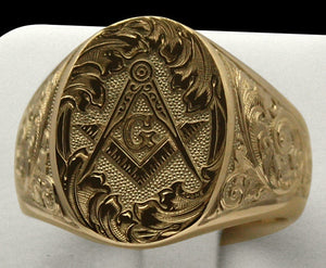 New 316L Stainless Steel Masonic Ring for Men Hip Hop Punk Gold Plating Masons Biker Ring Jewelry
