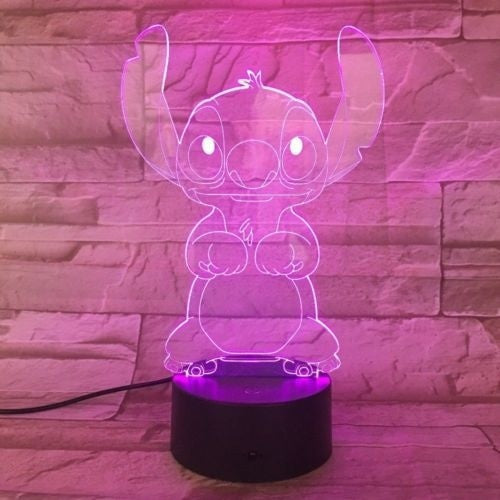 3D cute cartoon pin night light 7 color change LED table lamp touch bedroom decoration gift