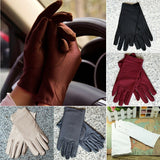 Durable Summer Women Sun UV Protection Outdoor Solid Color Cotton Driving Gloves
