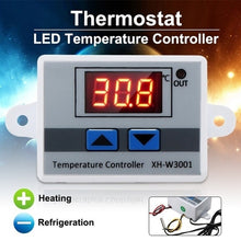 Load image into Gallery viewer, Great quality ! 220V 10A Digital LED Temperature Controller Thermostat Control w/ Switch +Probe