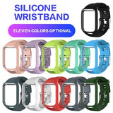 Trendy Silicone Watch Band Replacement Strap w/ Frame For TomTom Runner 2/Spark 3