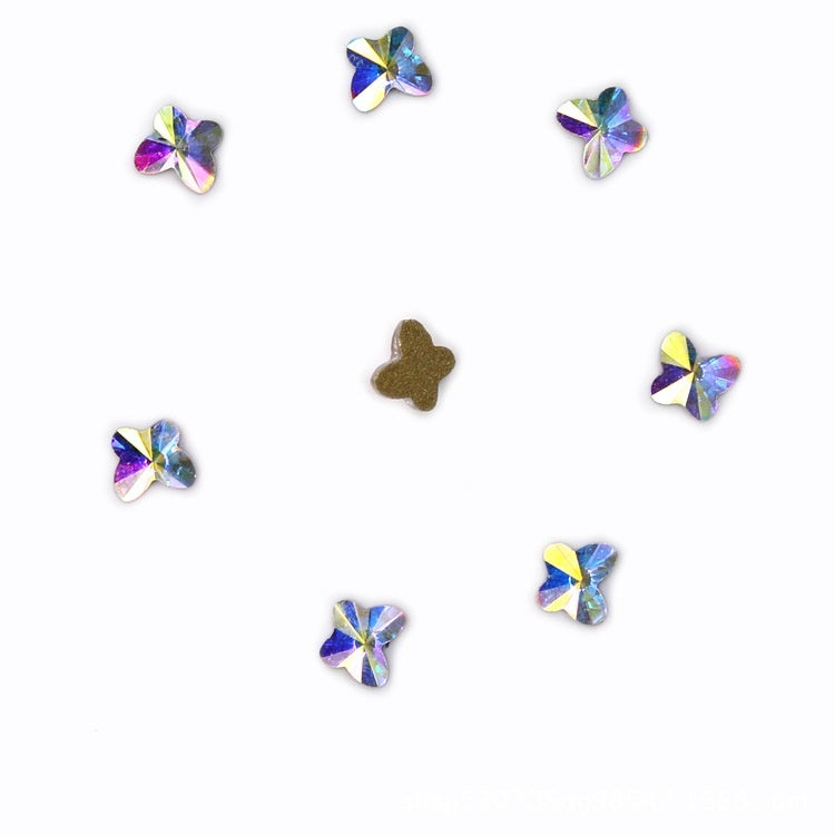 AB Flatback Nail Rhinestones Diamond Teardrop Horse Eye Crystals Stones Shiny Gems Manicure Nails Art Decorations