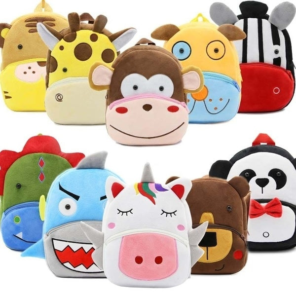 Cute 3D Cartoon Plush Children Backpacks Kindergarten Schoolbag Animal Kids Backpack Children School Bags Girls Boys Backpacks
