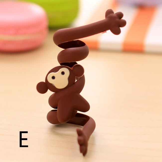 2 Pcs Earphone Winder Cable Cartoon Data Line Manager Headphones Storage Portable Winder Cable