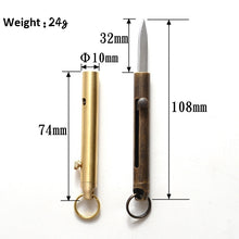 Load image into Gallery viewer, Brand New Brass Bolt Pocket Knife Self Defense Survival Tools Emergency Gear
