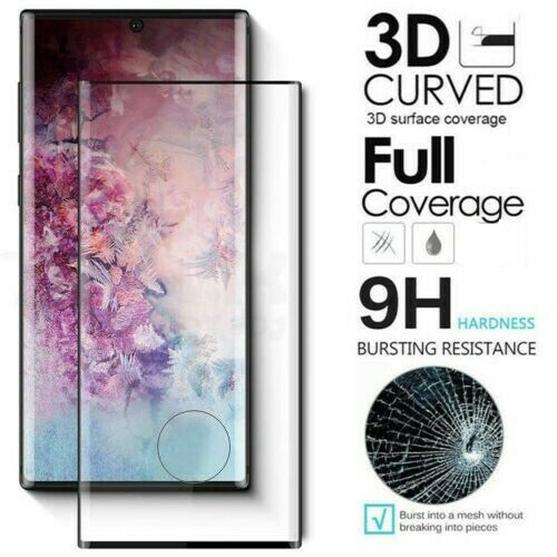 3D Full Curved Tempered Glass Screen Protector For Samsung Galaxy note 8 9 10 Plus Note 10Pro S6E S7 S7E S8 Plus S9 Plus S10 Plus S10E