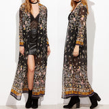 Plus Size Womens Long Sleeve Floral Beach Summer Kimono Outwear Coat Cardigans