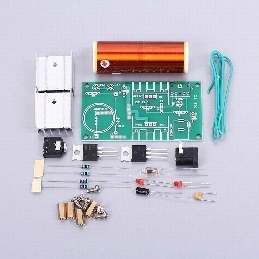 Mini Coil Plasma Speaker Electronics DIY Kit For Tesla  With Stainless Steel Ball