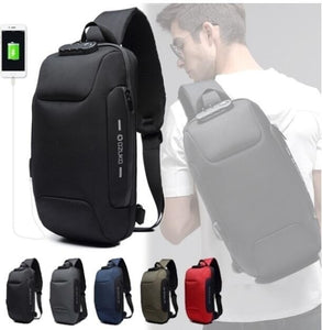 Men Outdoor Shoulder Bag Water-Resistant Oxford Cloth Chest Pack Fashion Burglarproof Chest Bag 5 Color