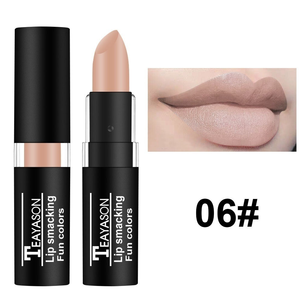 Fashion Halloween Lipstick High Quality Waterproof Velvet Matte Long Lasting Pigment Nude Purple Black Blue Red Lipstick Luxury Party Lips Makeup Cosmetics