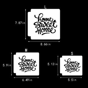 Sweet Home Stencil Template - Reusable Stencil for Baking/Journal/Scrapbooking / Pigment/Ink Pad/Spray/Hand Painting/Cloth//Wall /Furniture