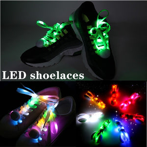 LED flashing laces hip-hop skating nylon braided laces sports night running equipment night light