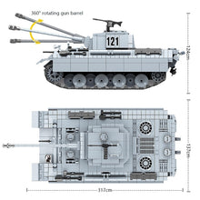 Load image into Gallery viewer, 990 Pcs Military Panther tank 121 Building Blocks Fit  German Tank Bricks WW2 Army Police Soldier Weapon Toys Gifts For Children