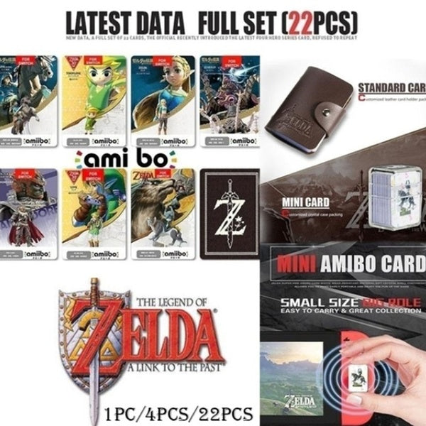 22 Pcs/4Pcs /1Pc All Switch Amiibo Tag Cards BOTW OOT SSB Link Chatacters for NS
