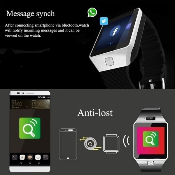 2019 DZ09 Watch Phone Bluetooth Smart watch With Camera SIM Card Slot For Android Phones