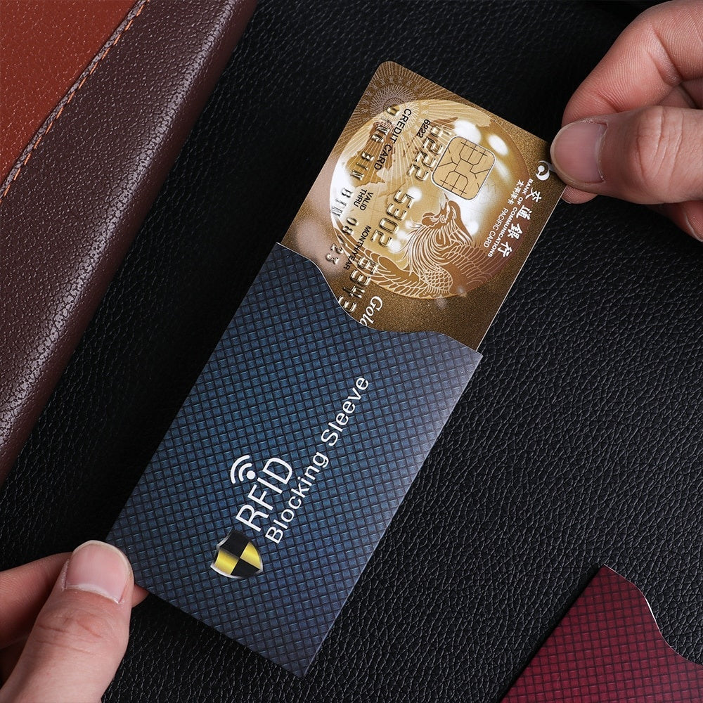 5PCS Anti Theft for RFID Credit Card Protector Blocking Cardholder Sleeve Skin Case Covers Protection Bank Card Case