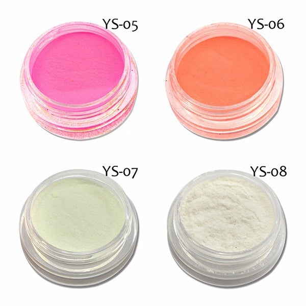 12 Color Nail Powder Luminous Nail Powder Nail Art Tools