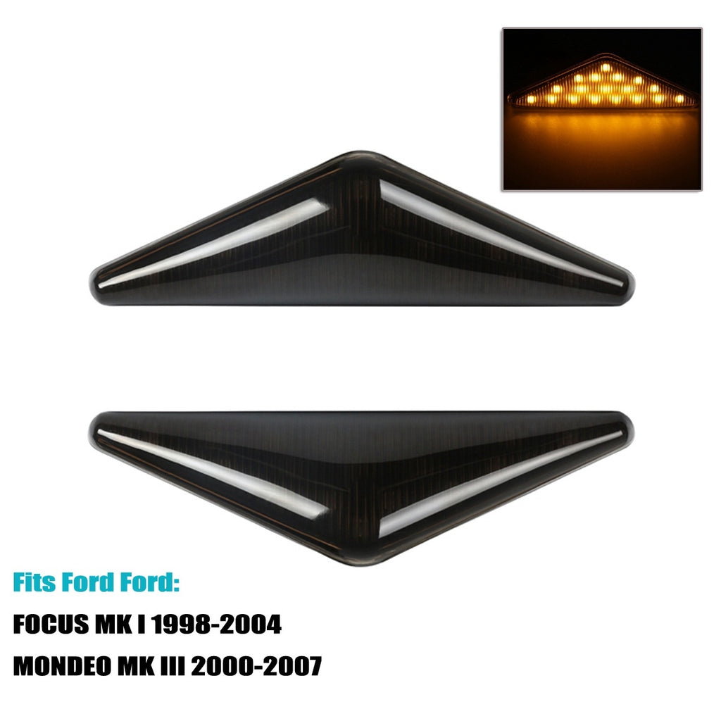 2x Normal/Dynamic Side Marker Light Indicators Repeater Lamp For Ford Focus Mk1 1998-2004 MONDEO MK III 2000-2007