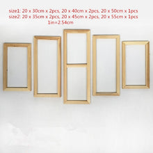 Load image into Gallery viewer, Fashion5 Panel Wood Frame Set for Canvas Oil Painting Factory Price Wooden Frames DIY Inner Frame for painter gallery