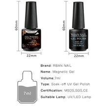 Load image into Gallery viewer, RBAN NAIL 2PCS or 3PCS/Set 5D Chameleon Magnetic Cat Eye Nail Gel Polish Long Lasting Shining Laser Starry Sky Soak Off UV Gel Varnish