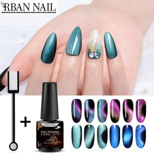 RBAN NAIL 2PCS or 3PCS/Set 5D Chameleon Magnetic Cat Eye Nail Gel Polish Long Lasting Shining Laser Starry Sky Soak Off UV Gel Varnish