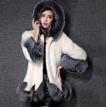Load image into Gallery viewer, Women Fashion Elegant Long Faux Fur Coat Fluffy Jacket Winter Women Thick Warm Faux Fur Coats with Furry Hooded