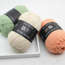 Load image into Gallery viewer, Hand-Woven 4 Strands of Milk Cotton Scarf Sweater Crocheted Thick Wool Thread 50g Winter