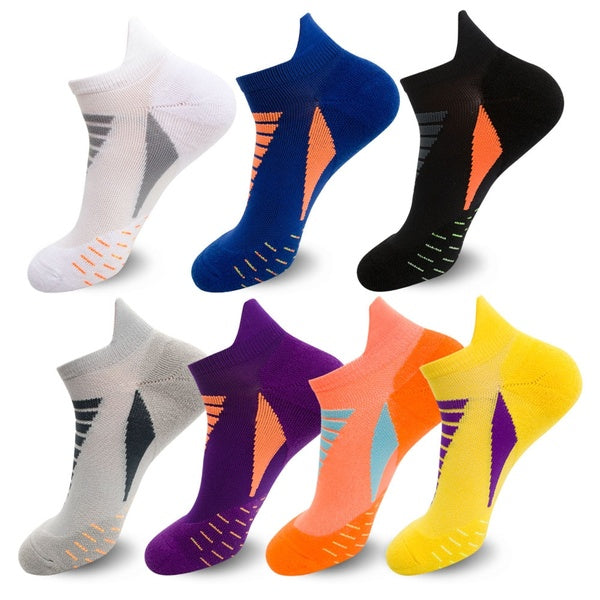 1 Pair Basketball Socks Men's Anti-sweat Outdoor Sports Running Basketball Bicycle Sports Non-slip Ankle Striped Socks